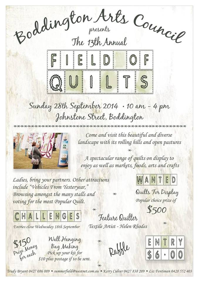 Boddington Arts Council Field of Quilts 2014